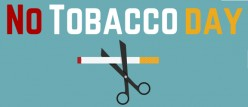 "This graphic was used to raise awareness about a ""No Tobacco Day"""