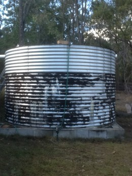 Household water supply rainwater tank