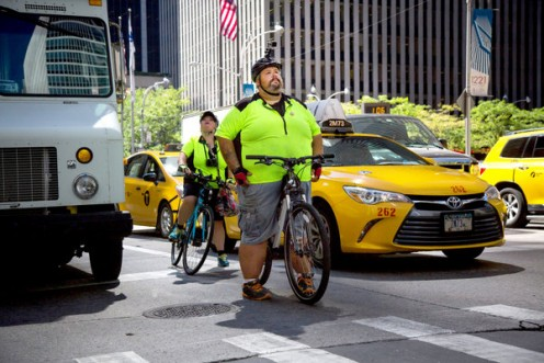 Overweight  guy on  bike rides across nation  raising awareness on how ugly overweight people are being treated