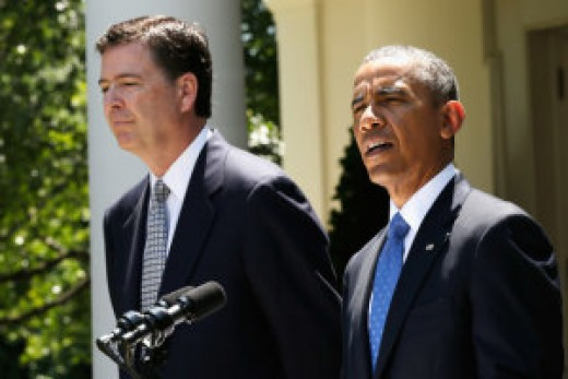 FBI Director Paul Comey with Obama