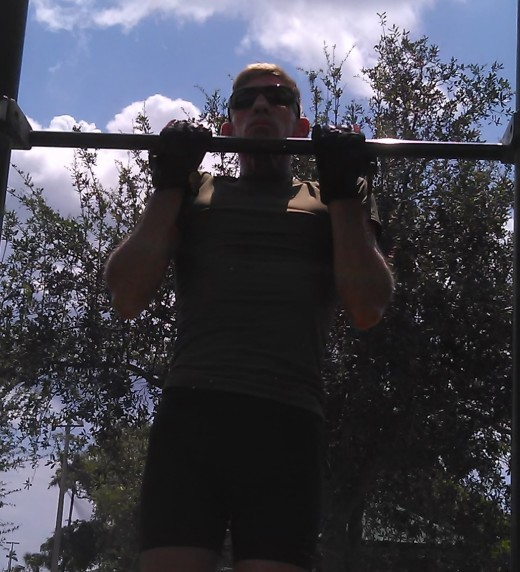 A great upper body development exercise, chin-ups are utilized by the Marine Corps to test upper body endurance and strength.