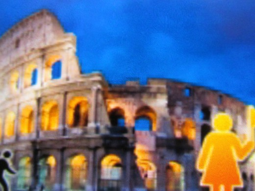 A nighttime shot of the Colosseum and Rome tour that you can book up to 24 hours prior to desired date.
