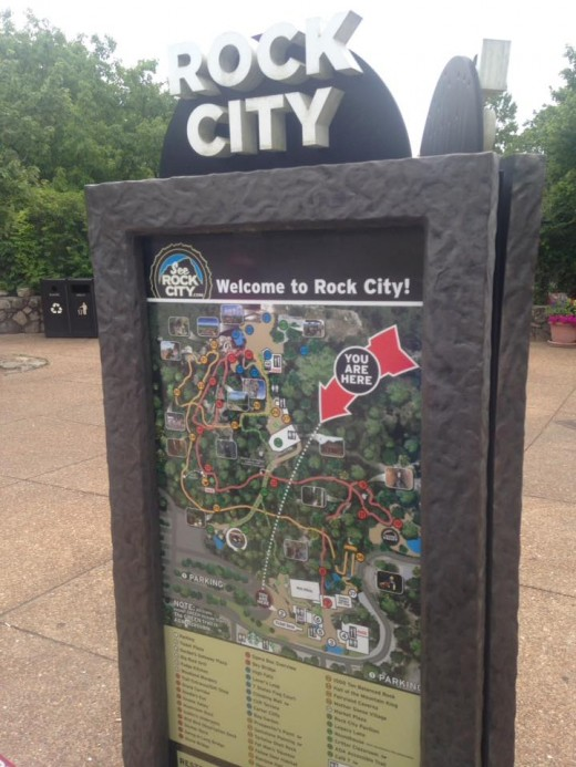 Map of Rock City.
