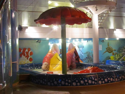 This is a photo which is part of the play area on deck 15 for the children on the Epic.