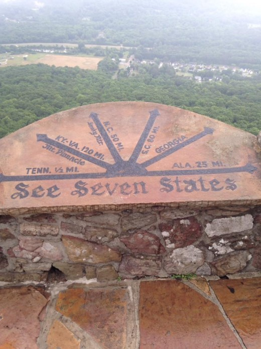 From Rock City on Lookout Mountain, you can see seven states in good weather.