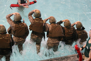 Combat Water Survival training.