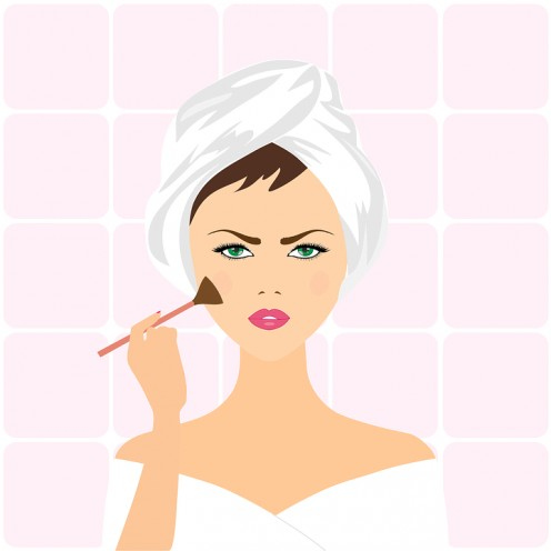 Women use their bathrooms to apply their make-up without being bothered