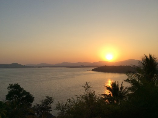 The tourist gather to watch the sunset at this cape, Thailand Travel Guide Tour