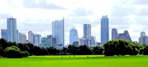 Downtown Austin from Zilker Park