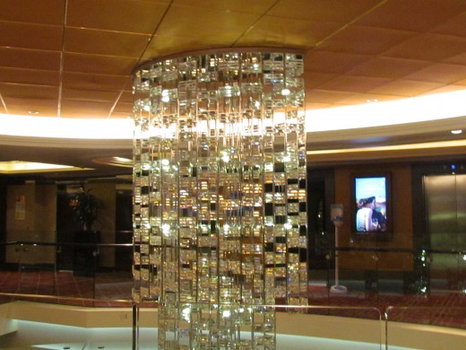 Another magnificent chandelier on the ship.