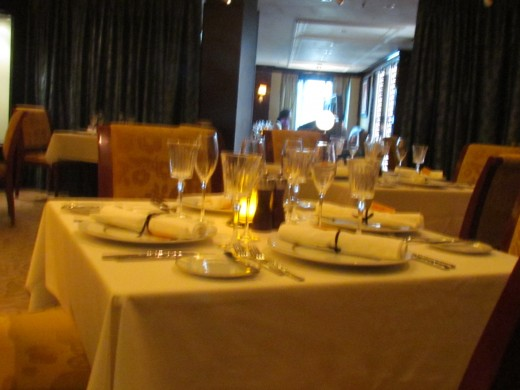 Le Bistro's, beautiful table setting.