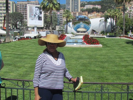 A photo where we were near the center square downtown Monte Carlo, Monaco.
