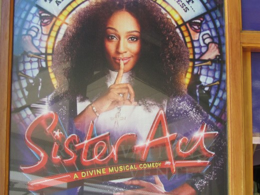 The play Sister Act was being shown downtown Monte Carlo.