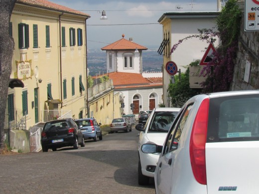 A street scene in Nice, Italy where traffic can be a little hectic.