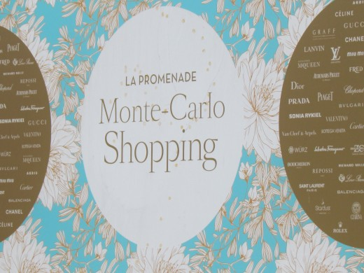 A Monte Carlo shopping sign downtown.