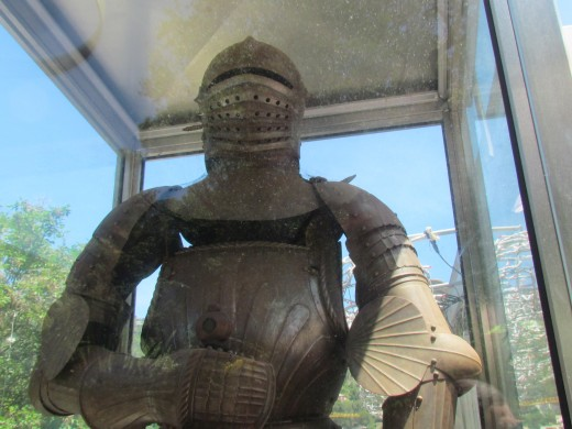 An armored guard was on display in Nice, France.