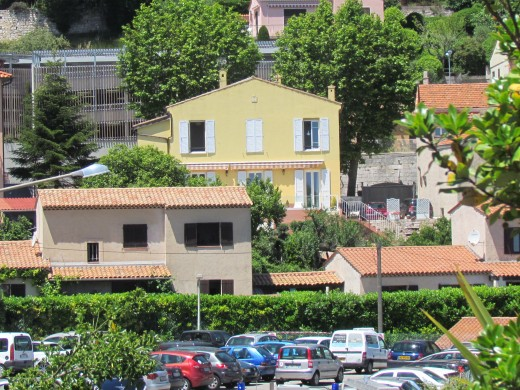 Homes in the area of Nice, France.