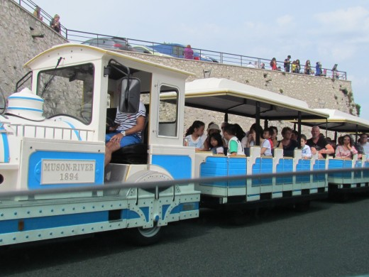 A small train used for the tourist in Marseille.