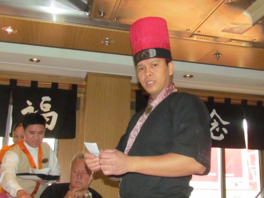 Our chef was quite entertaining as he prepared our orders. He sang, danced and used his artistic abilities to entertain us.