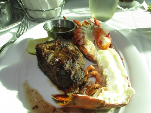 One of the amazing surf & turf meals we had at the specialty restaurants for no additional charge.
