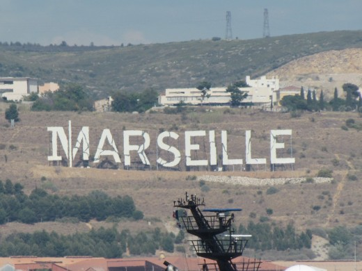 We could see this sign of Marseille from our balcony when we arrived in the port.
