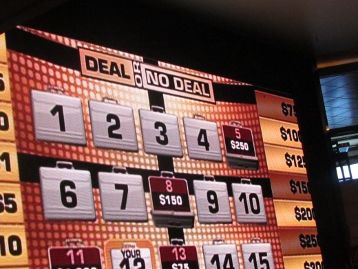 "The game ""Deal or No Deal"" was played by some during the cruise."