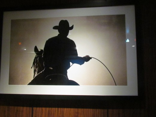 A photo of a cowboy in darkness that we used in order to know exactly where we were on the ship.