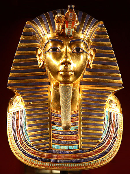 Tutankhamun's death mask by Carsten Franzi CC BY-SA 2.0