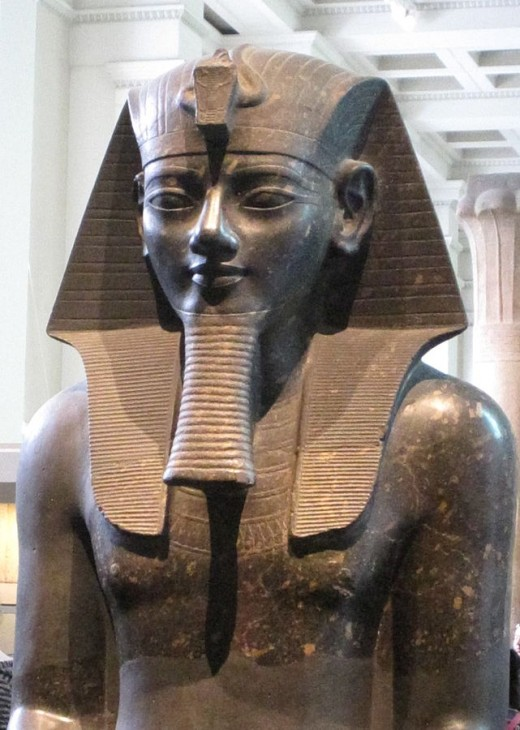 Colossal statue of Amenhotep III By A Parrot Public Domain