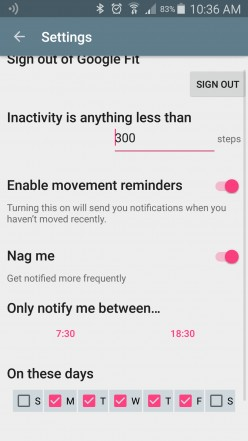 Idle Movement Notification On Fitbit Blaze