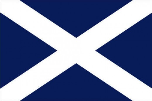 Scottish flag.