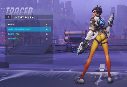 Tracer's original victory pose.