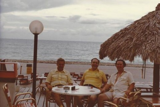 Robert (Bob), William F. (Bill) and Donald (Don) Torpey living the 'Life of Riley' in Lauderdale-By-The-Sea, Florida, decades ago.