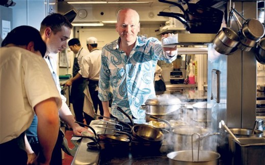 A restaurateur with a history degree studies the history and culture of the cuisine of a restaurant he or she manages.