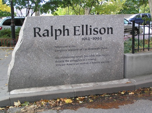 Ralph Waldo's monument in front of the 730 Riverside Drive
