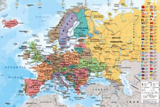 In this map of Europe most of the countries shown in various colours belong to the European Union, but today they have a problem that needs to be solved fast.
