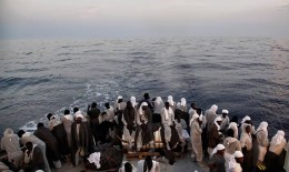 Because these illegal emigrant seem so desperate and want to reach Italy, or any other European country, they use any boat at all, even if they are not safe, so most times the Italian people, go to save them before they drown.