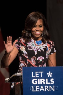 First Lady Michelle Obama Travels to Africa with Her Daugthers