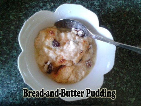 A Dish of Bread and butter pudding
