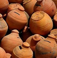 Orange Tinted Clay Called Pygg