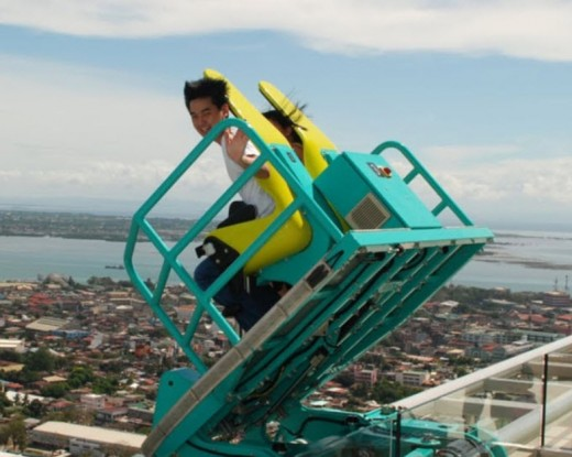 The Edge coaster in Cebu, Philippines