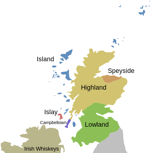 Map of Scotch Regions