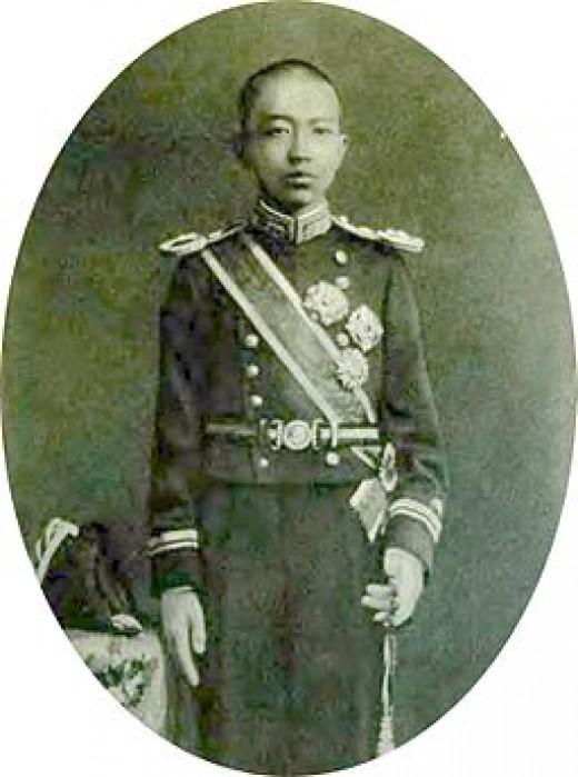 Emperor Hirohito, the post-Meiji Revolution emperor, as a child.