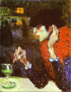 The drinking of too much absinthe over time could result in absinthism - a condition that may have distorted vision and cause these characteristic paintings.