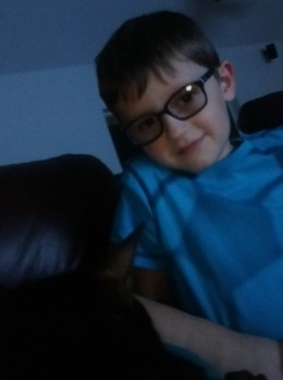 Libby was comforting Heston here...this was just before their trip to the doctor in Boston.