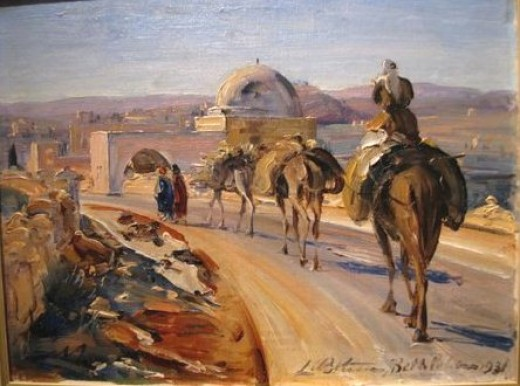Ludwig Blum , an Israeli painter (1891- 1974) painted portraits such as High Commissioners of Palestine, Abdullah I of Jordan, Moshe Dayan