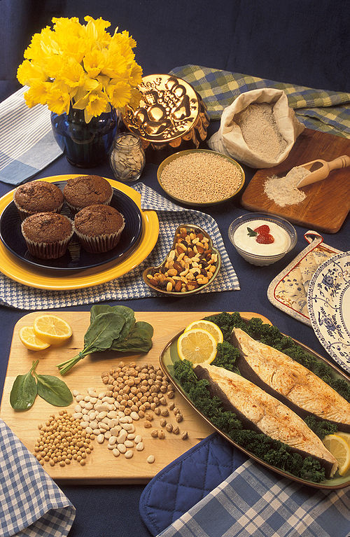 Examples of foods containing magnesium.