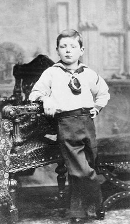 Churchill age 7