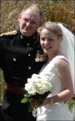 Georgina and Craig's wedding day