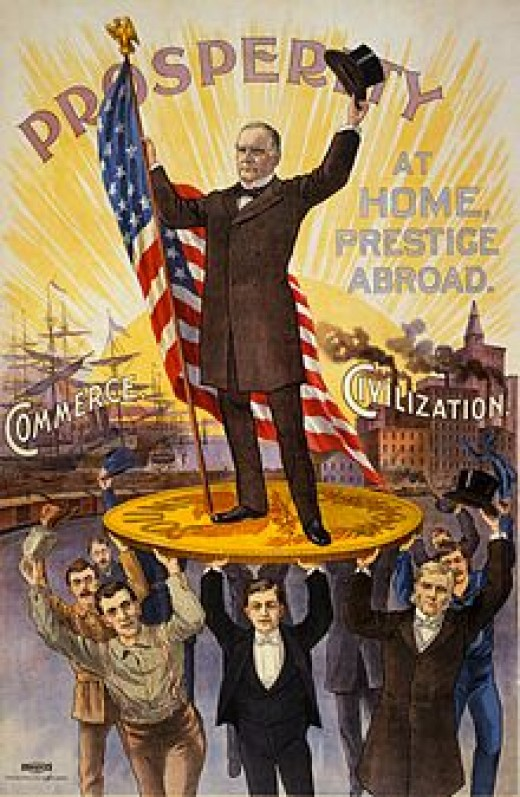 William McKinley's extremely popular campaign promise was to bring back the gold standard, and while it was opposed by economists and bankers, the people loved him and they loved gold.